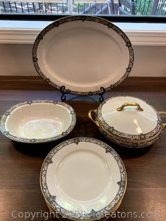Antique Limoges France Elite Works BWDIO China 9 Pieces