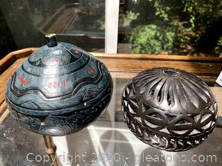 Handcrafted in Mexico Gourd Dish & Votive Holder