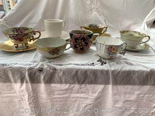 Vintage Cups , Cups and Saucers Lot