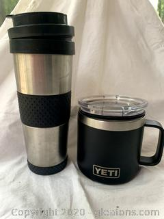 Yeti Mug and a Stainless Insulated Tumbler