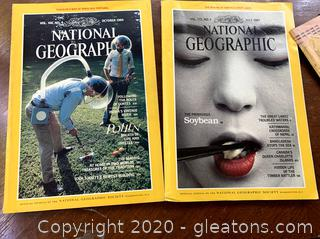 National Geographic Magazines Lot of 26