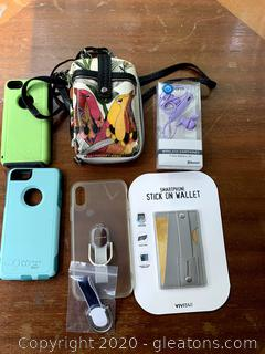 I Phone Accessories Lot/Otter Box/ Sakroots/ Onn