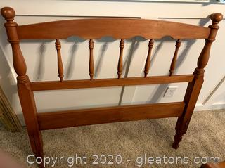 Vintage Wood Twin Head Board