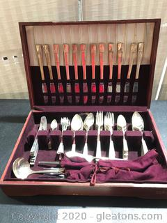 Stainless Flatware in Original Wooden Box