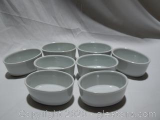 8 Small White Individual Dessert/ Casserole Dishes by Cordon Bleu
