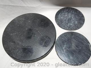 3 Piece Granite/Stone Set