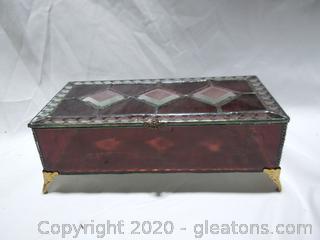 Stained Glass Trinket/Jewelry Box