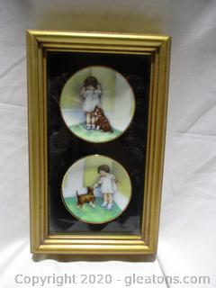 Framed Antique Dishes