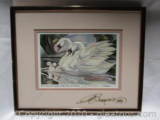 The Swan And Cygnet, Reflections Of A Family Painting
