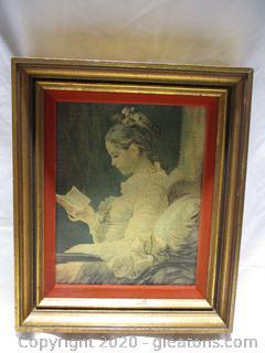 Elegant Lady Reading Painting