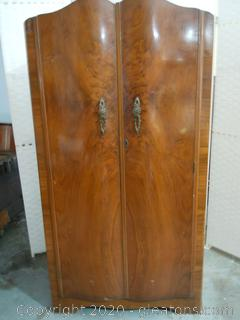 Vintage Wardrobe/Closet With Brass Hardware