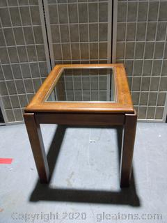 Glass Top Accent/End Table