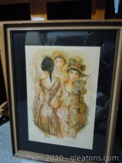 Signed Lithograph 30/200 By Jay Jalaude