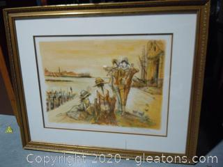 Signed Lithograph 173/200 By Jay Jalaude