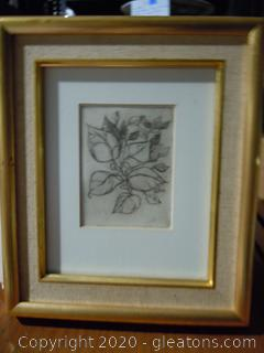 Signed Pencil Sketch By D.Stein