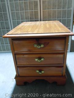 3 Drawer Night Stand/End Table By Broyhill