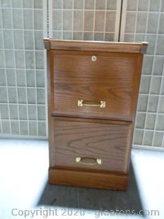2 Drawer Wooden File Cabinet