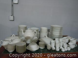 Alinast Complete Set Of Bone China From France