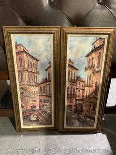 Pair of Textured Prints