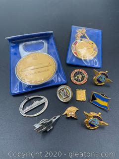 Collection of Medals and Military Pins