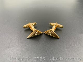 Vintage Christian Dior Triangle Cufflinks