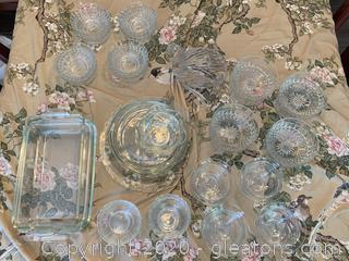 Assortment of Glass Dishes