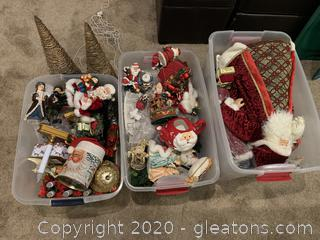 Assorted Christmas Items and Decor