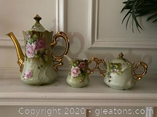 Green Heritage Rose Lefton China