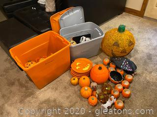 Large Collection of Halloween Decor