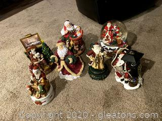 Collection of Santa Figurines