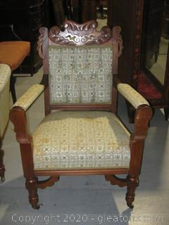 French Provencial Parlor, Chair With Arms, Antique