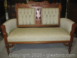 French Provencial Settee Antique