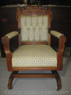 Antique French Provencial Pedestal Rocking Chair