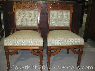 Antique French Provencial (A) Pair of Side Chairs