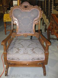 Antique Rocking Parlor Chair