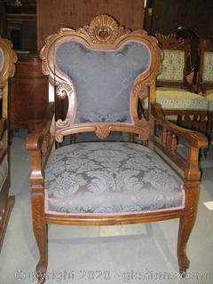 Antique Armed Parlor Chair