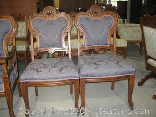 Antique Parlor Set of Chairs (2)