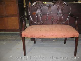 Antique Sheild Back Settee