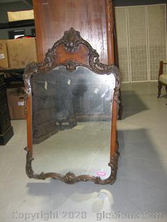 Heavy Antique Wall Mirror