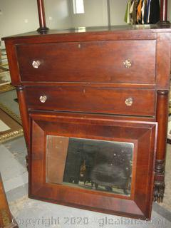 Antique Handmade Dresser with Attachable Mirror
