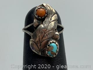 Turquoise and Sterling Child's Ring