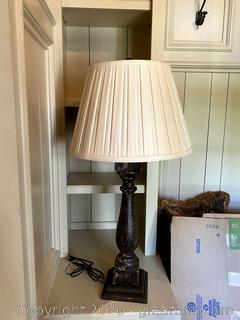 Wood Tall Table Lamp