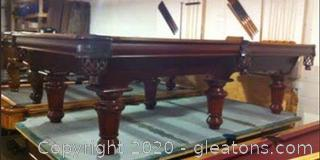 High End Pool Table with Accessories