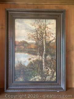 Framed Canvas (Lake/Woods)