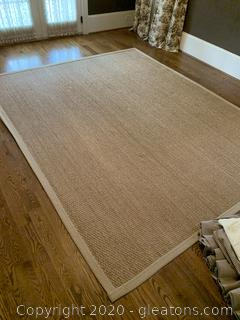 Large Woven Natural Fiber Area Rug - 8 x 10