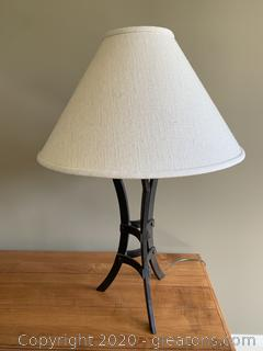 (B) Metal Ethan Allen Table Lamp