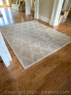 "Woolmark Lattice Rug ""Tapis Vanneau"""