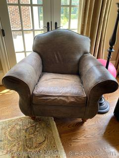 Ethan Allen Leather Arm Chair