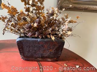 Small Faux Decorative Planter