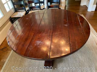 Farmhouse Style Pedestal Dining Table - 5' Round